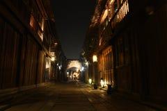Załzawiony Miasteczko antyczna ulica fotografia royalty free