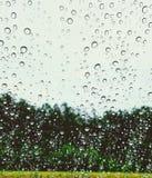 Załzawiony okno obrazy stock