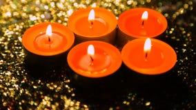 Zaświecać świeczki przeciw tłu glosa w degradaci zbiory wideo