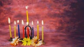 Zaświecać Hanukkah świeczek świętowanie