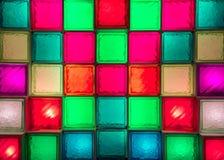 Zaświecać szklany blok mieszanki colour szklany blok Obrazy Royalty Free