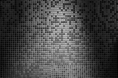 Zaświeca abstrakcjonistycznego tło szarość taflująca ściana w siatka wzorze i cieni Obrazy Royalty Free