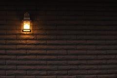 Zaświecająca ściana Zdjęcia Stock
