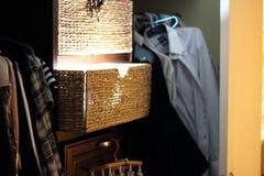 Zaświecająca Drewniana szafa fotografia royalty free