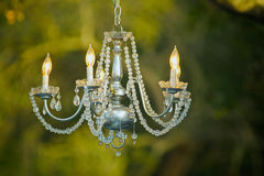 Zaświecający Krystaliczny świecznik Zdjęcia Royalty Free
