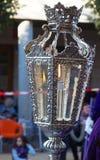 Zaświecający lampion przy wielkanocą Zdjęcie Stock