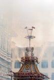 Zaświecający ` ogienia ` kareciany szczegół Obrazy Stock