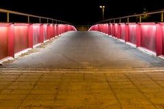 Zaświecający up most przy nocą obraz stock