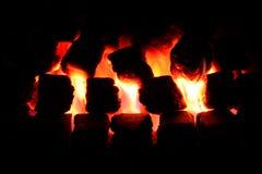 zaświecający węglowy ogień Zdjęcie Royalty Free