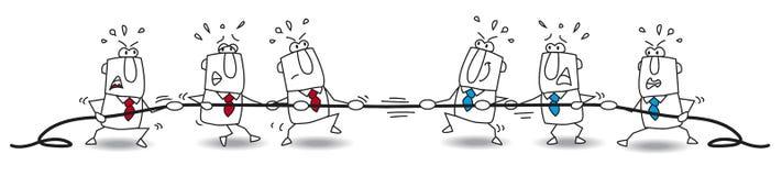 Zażarta rywalizacja biznes drużyna ilustracja wektor