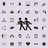 zażartej rywalizaci ikona Szczegółowy set rozmowy i przyjaźni ikony Premii ilości graficznego projekta znak Jeden inkasowy ico ilustracja wektor