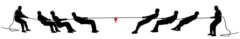 Zażartej rywalizaci sylwetki wektorowa ilustracja odizolowywająca na białym tle Plenerowego sporta rywalizacja Ludzie biznesu dru royalty ilustracja