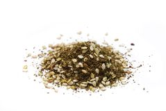 Za'atar. Spice mixture on white background Stock Photos