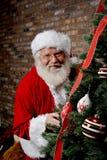 za bożych narodzeń Claus Santa drzewem Obrazy Stock