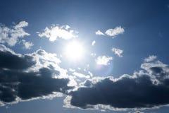 za chmury słońcem Zdjęcie Royalty Free