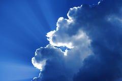 za chmury słońcem Fotografia Stock