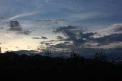za góra słońca Obraz Royalty Free