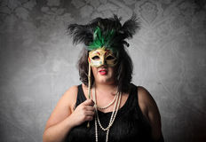 za maską Fotografia Stock