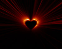 zaćmienia serce Fotografia Stock
