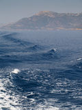 za łodzi wody fala Zdjęcia Stock