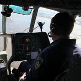 Załoga Emergencies ministerstwa helikopter Obraz Stock