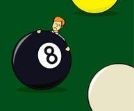 Za Osiem piłką ilustracja wektor