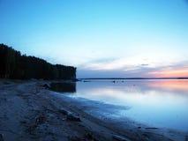 za sosnowymi stałego sunset drzewa dwa lata Zdjęcia Stock