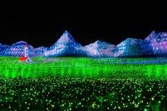 Zaświeca Up Jak zieleni pole Zdjęcie Stock