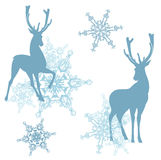 za wieczór jelenim domem ilustracyjny nowy s mały drzew zima rok Fotografia Stock