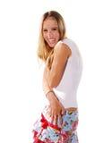zaaferowani blondynką określeń zdjęcie stock