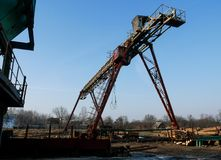 Zaagmolen industriële machine royalty-vrije stock fotografie