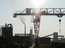 Zaagmolen industriële machine royalty-vrije stock afbeelding