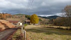 Zaagmolen in livradois-forez, Auvergne, Frankrijk stock afbeelding