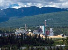 Zaagmolen in Rockies Stock Fotografie