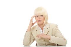 zaakcentowana biznes kobieta Fotografia Stock