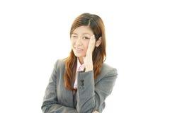 Zaakcentowana biznesowa kobieta obraz stock