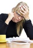 zaakcentowana rachunek kobieta Zdjęcie Stock