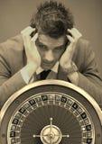 Zaakcentowana Uprawia hazard nałogowa i kasyna ruleta zdjęcie royalty free