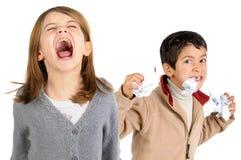 Zaakcentowani dzieciaki Obrazy Stock