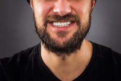 Zaakcentowany mężczyzna usta obrazy royalty free
