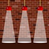 Zaal binnenlandse verlichting stock illustratie