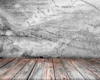 Zaal binnenlandse wijnoogst met houten vloerachtergrond Royalty-vrije Stock Foto