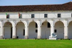 Zaal en wit standbeeld in Limena in de provincie van Padua in Veneto (Italië) Royalty-vrije Stock Afbeeldingen