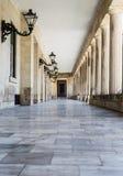 Zaal in het kasteel, de stad van Korfu, Griekenland royalty-vrije stock afbeeldingen