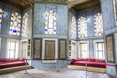 Zaal in het museum voor de ontvangst van gasten, voor thee royalty-vrije stock afbeelding