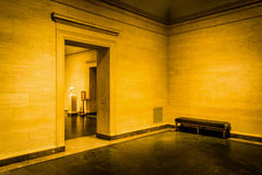 Zaal in het National Gallery van Kunst, in Washington, gelijkstroom Royalty-vrije Stock Foto's