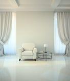 Zaal in klassieke stijl met leunstoel en coffe lijst Royalty-vrije Stock Afbeelding