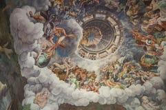 Zaal mantua Lombardije Italië Europa van het reuzenpaleis te stock afbeeldingen