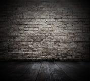 Zaal met bakstenen muur Stock Foto