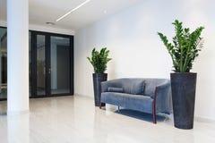 Zaal met comfortabele bank Stock Afbeelding